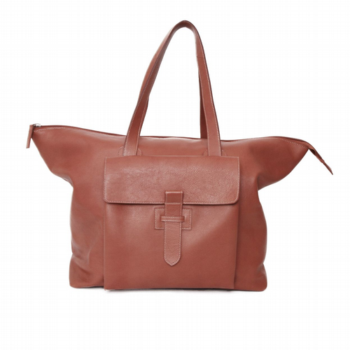 Retro Leather Travel Bag - Cognac